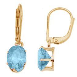 March Birthstone Leverback Earrings