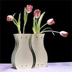 Yin-Yang Metal Vase Pair
