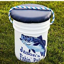 Personalized 5-Gallon Fishing Pail and Cushioned Seat