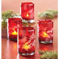 Winterbird Holiday Votive Candles Set