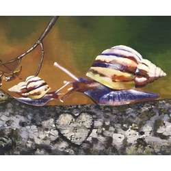 Snail Love Personalized Print