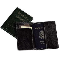 Personalized Slim Executive Leather Passport Holder
