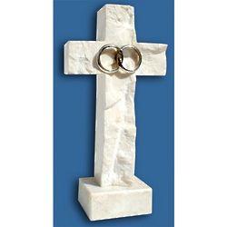 Silver Jerusalem Stone Wedding Cross