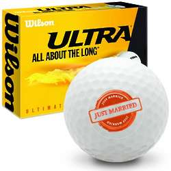 Just Married Wilson Ultra Ultimate Distance Golf Balls