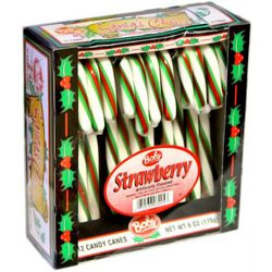 Bob's Strawberry Flavored Candy Canes