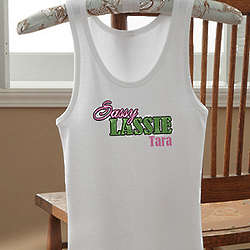 Sassy Lassie Personalized Girl's Tank Top