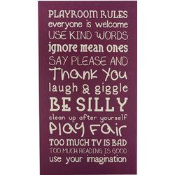 Playroom Rules Box Sign
