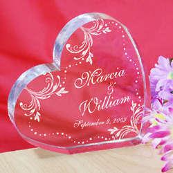 Personalized Wedding Couple Heart Keepsake
