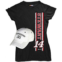 Tony Stewart #14 Ladies T-Shirt and Cap