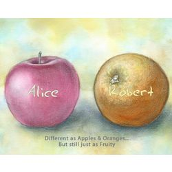Apples and Oranges Personalized Art Print