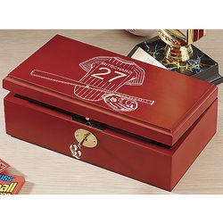 Baseball Personalized Wooden Keepsake Box