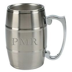 Personalized Metal Beer Keg Mug