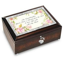 Granddaughter You're a Blessing Personalized Music Box