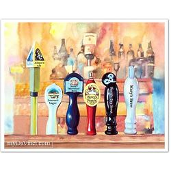 On Tap No. 6 Beer Tap 8x10 Art Print