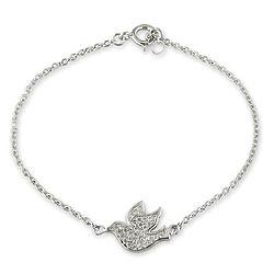 Sterling Silver Dove Bracelet