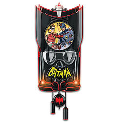 Batman Classic TV Series Batmobile Clock with Lights and Music