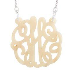 Personalized Blonde Marble Acrylic Monogram Necklace