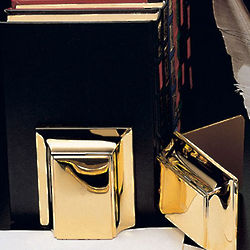 23Kt Gold Plated Book Ends