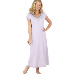 Lavender Lovely Lace Cotton Gown
