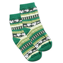 'Crazy Shamrock Stripes' Socks