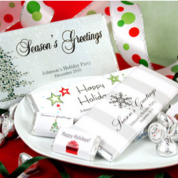 Personalized Holiday Chocolate Favors