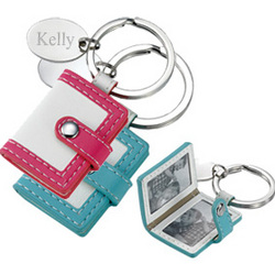 Mini Pocketbook Photo Frame Keychain