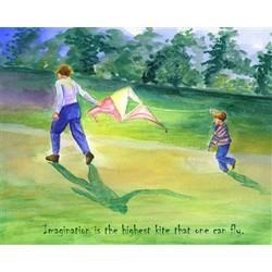 Flying Kites Fine Art Print