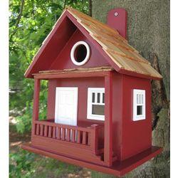 Red Kottage Kabin Birdhouse