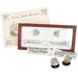 Birth Certificate Holder and First Tooth First Curl Set