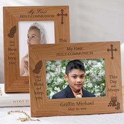 Personalized May God Bless First Communion Picture Frame