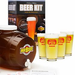 Mr. Beer Brewing Kit with Personalized Pub Glasses