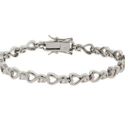 Swirling Hearts CZ Tennis Bracelet