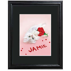 Personalized Rosy Kitten Framed Print