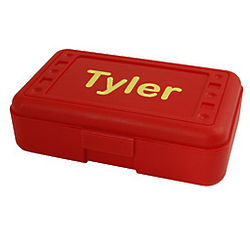 Personalized Red Pencil Box