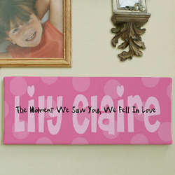The Moment We Saw You Personalized Wall Canvas