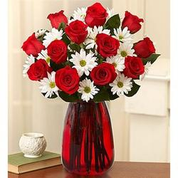 Fair Trade Red Roses and Daisies Bouquet