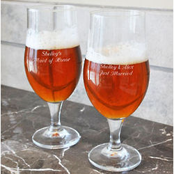 Engraved Stem Pilsners