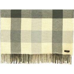 Foxford Merino Wool Dublin Irish Check Throw Blanket
