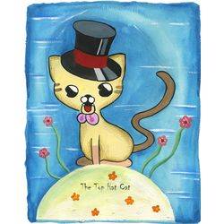 The Top Hat Cat Personalized Print