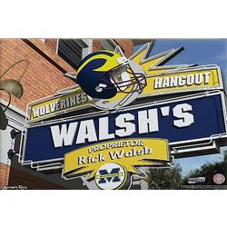 Michigan Wolverines Personalized Pub Sign Canvas