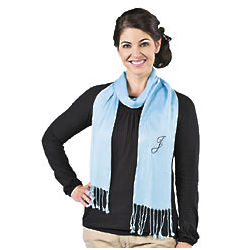 Personalized Light Blue Scarf