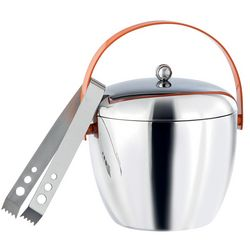 Retro-Inspired Stainless Steel Ice Bucket