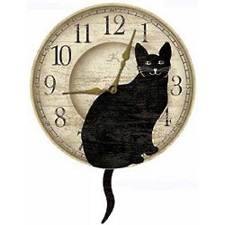 Wagging Cat Tail Wall Clock