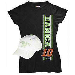 Danica Patrick #10 Ladies Tee & Hat Combo