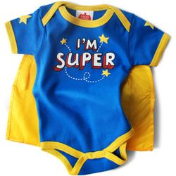 Baby Boy's I'm Super Snapsuit with Cape