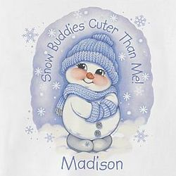 Personalized Snow Buddies Cuter Than Me Romper
