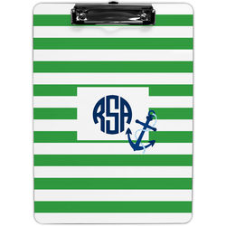 Stripe Anchor Personalized Clipboard