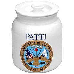 Personalized Army Dog Treat Jar