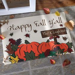 Happy Fall Y'all Personalized Door Mat