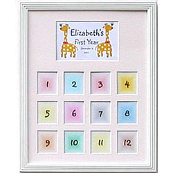 Personalized First-Year 11x14 Photo Frame